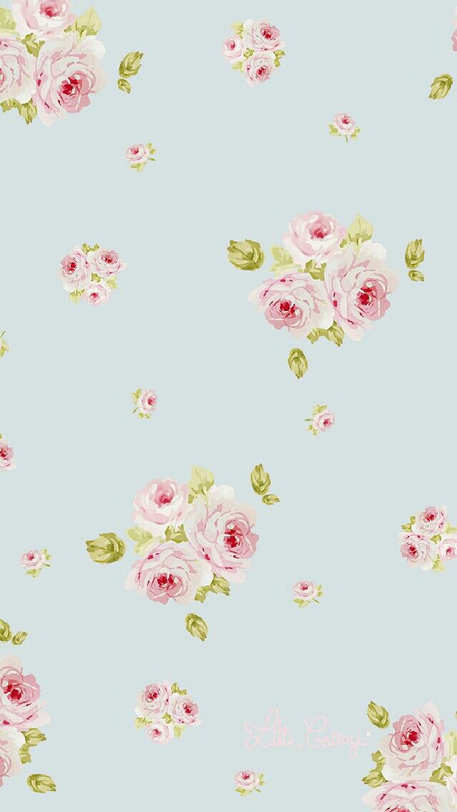 vintage floral iPhone wallpaper from cocoppa