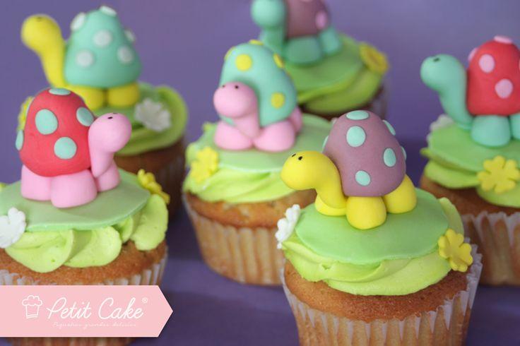 Cupcakes de tortugas @petitcakeCOL