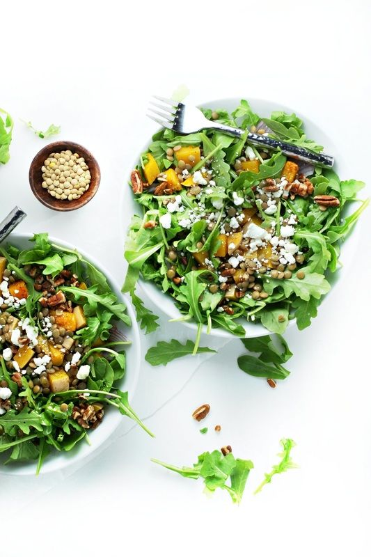 Spiced Butternut Squash, Lentil and Goat Cheese Salad ...