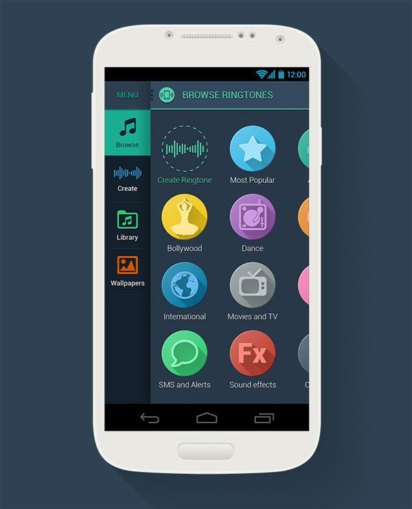 20 Flat Mobile UI Designs For Your Inspiration - Hongkiat