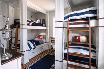 Nautical Bunkroom - beach-style - Kids - Raleigh - Dempsey Hodges Construction