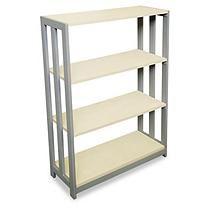 "Linea Italia 31 ½"" Wide Trento Line 3-Shelf Bookcase, Oatmeal"