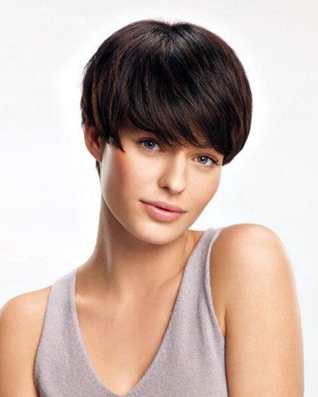 Short Hairstyles Dark Straight Hair