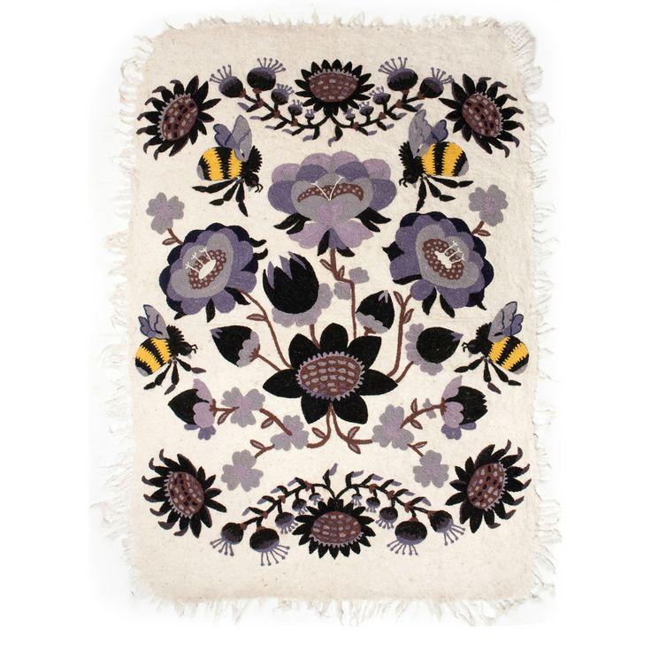 Tikau felted carpet Bombroo - purple version (125 x 180 cm) Design by Klaus Haapaniemi for Tikau