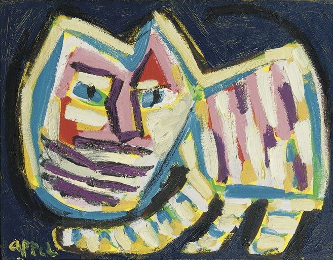 Walking cat, Karel Appel. Dutch (1921 - 2006)