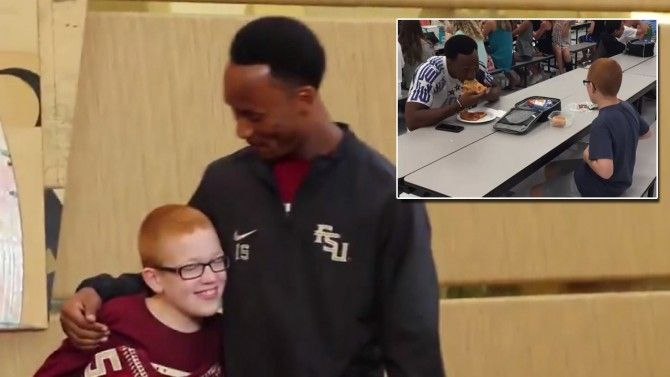 Boy With Autism Treated to FSU Game After Heartwarming Photo of Him Eating With Star Player - Inside Edition