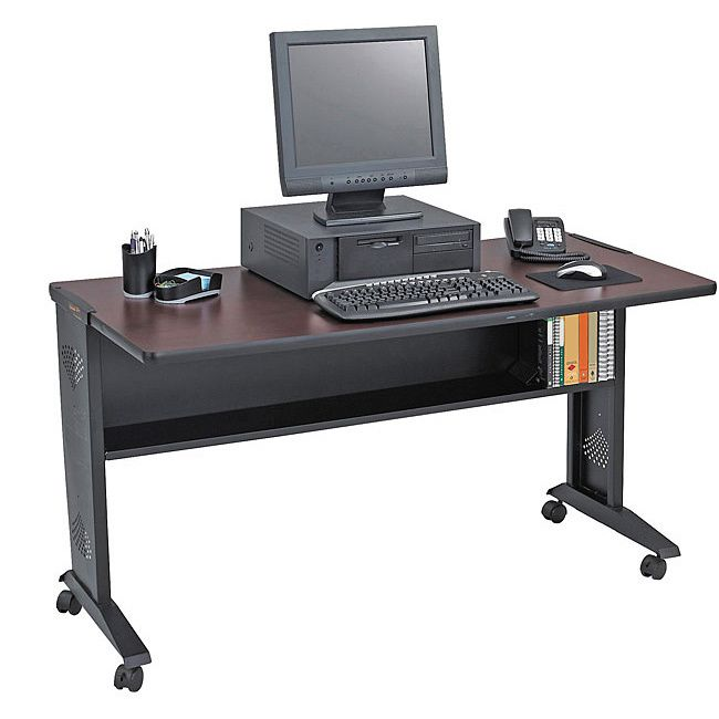 safco 54inch reversible top mobile computer desk by safco