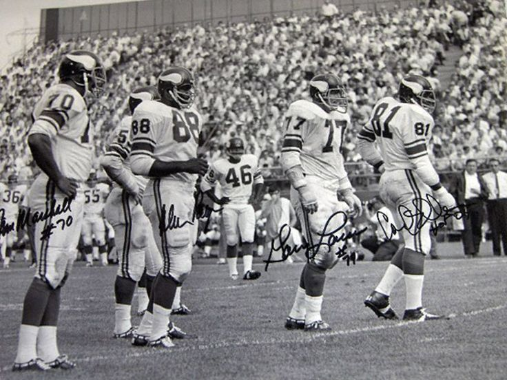 The Fearsome Foursome of the Purple People Eaters. Marshall, Page, Larsen, Eller.