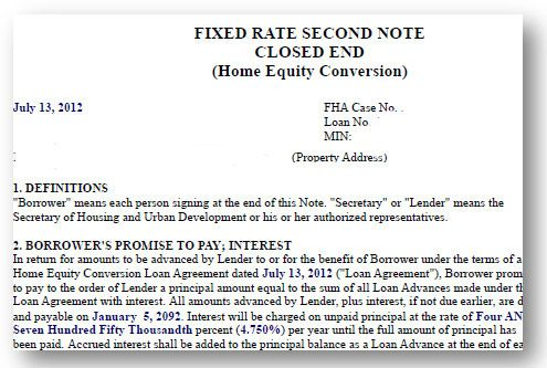 HOA liabilities under Reverse Mortgages: when a request for a line of credit draw will cause the outstanding balance to equal or exceed 98% of the max claim amount HUD will be responsible to making all future loan advances. The second Note and Deed make this assignment possible. HUD increases the amount on the deed of trust by 150% of the maximum claim amount or appraised value, whichever is less. No amounts beyond this balance may be forwarded... n.b. in default PUD riders may also apply