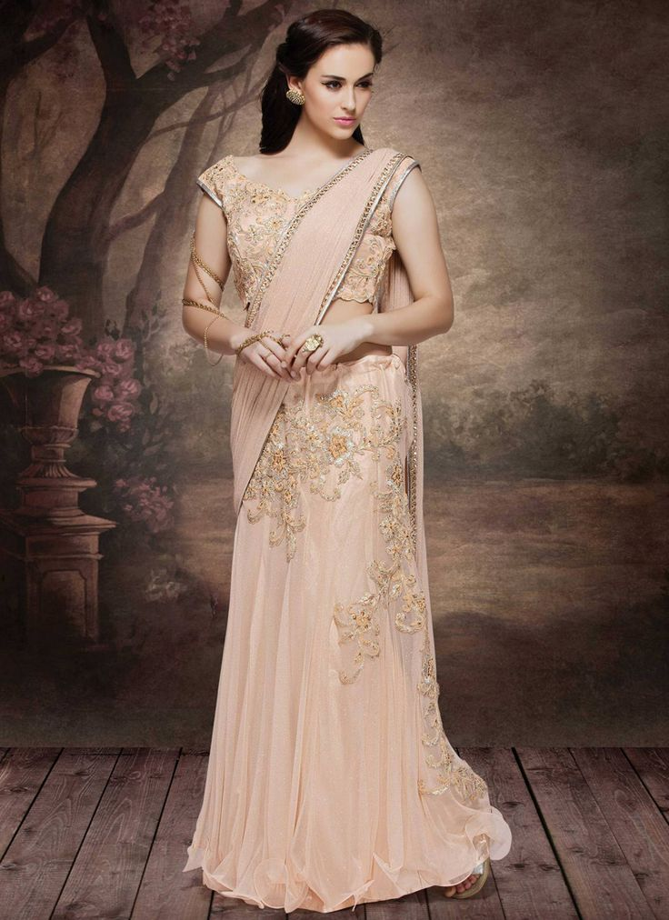 beige-net-embroidered-work-wedding-wear-saree