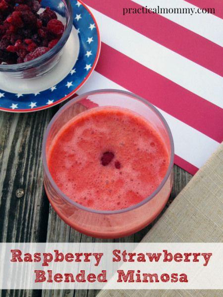 Raspberry Strawberry Blended Mimosa Recipe