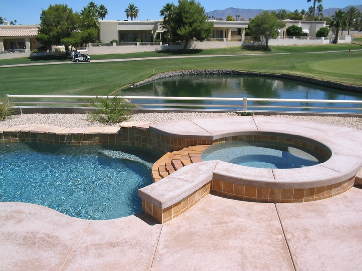 Small Pool And Spa Designs pool with spa designs for small yard Small Pool With Spa