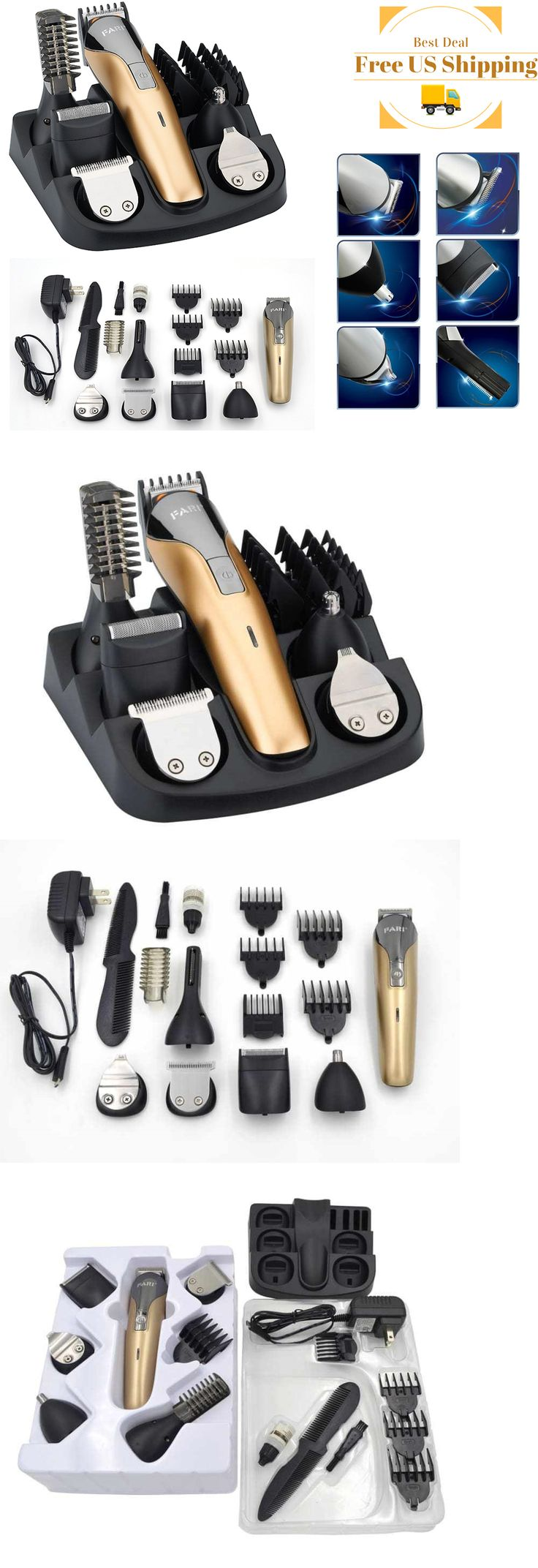 Clippers and Trimmers: Rechargeable Hair Trimmer Professional Beard Clipper Mustache Shaver Barber Cut BUY IT NOW ONLY: $136.89