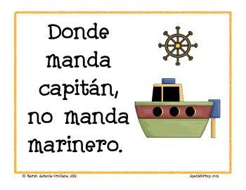 Donde manda capitán no manda marinero. #frases. ¡maneja tu mismo tu vida! Refranes, Dichos y Proverbios