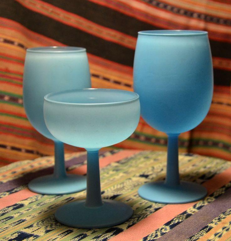 Blue Liquor Glasses