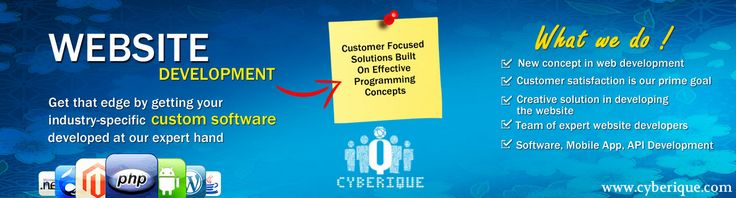 #Web_Development -  Cyberique is the best #Web #Development company and Services, provides services for custom web applications development worldwide Instantly. See more: http://www.cyberique.com/web-development-service.php