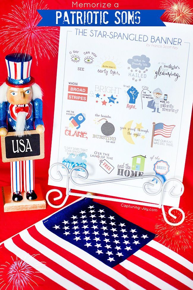 Memorize a Patriotic song for the Fourth of July, the Star Spangled Banner lyrics