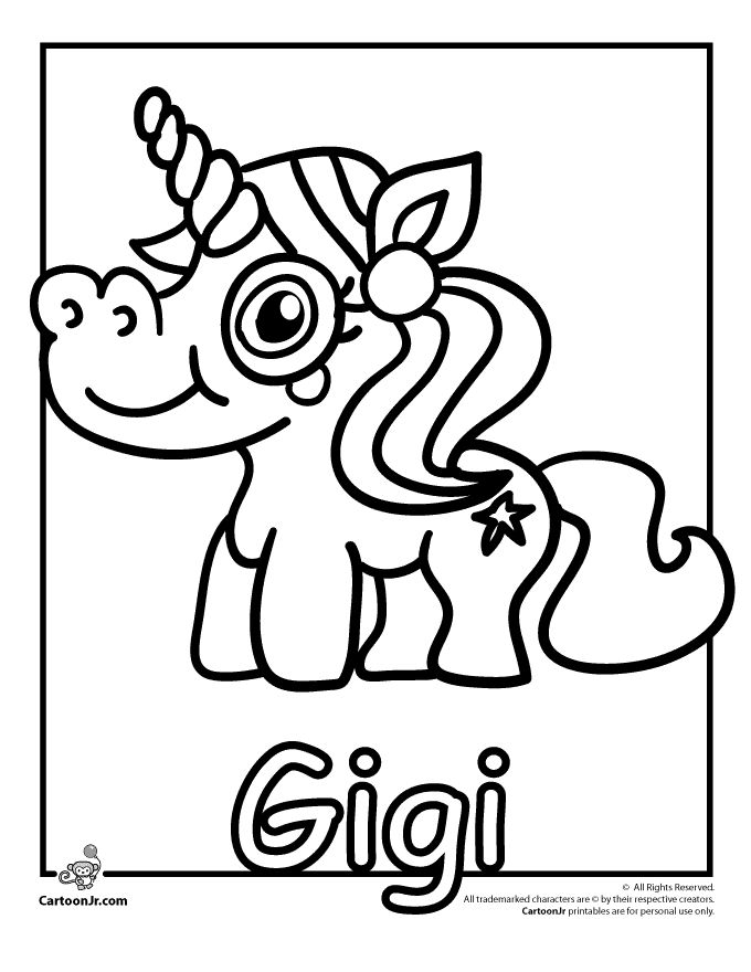 Gigi Ponies Moshi Monster Coloring Page Cartoon Jr MonstersColoring Pages