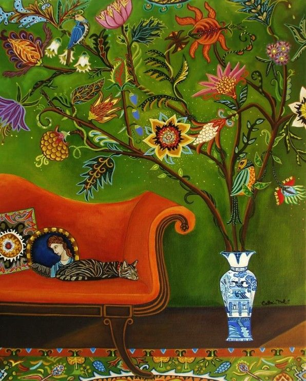 Color-filled paintings by Catherine Nolin. On the blog today!