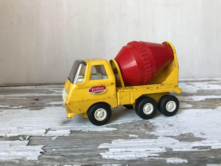 Excited to share the latest addition to my #etsy shop: Vintage 1970's Tonka Truck  * Vintage Tonka Cement Truck * Red and Yellow Tonka Truck * Toy Tonka Truck * Small Toy Tonka Truck #toys #yellow #birthday #red #toytonkatruck #cementmixer #tonkacementtruck #redandyellowtruck #toymetaltruck