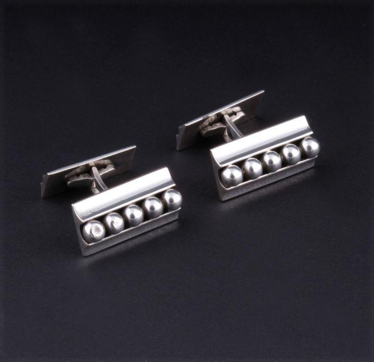 #shopjewelry > John Lauritzen (DK), vintage sterling silver cufflinks. #Denmark | finlandjewelry.com