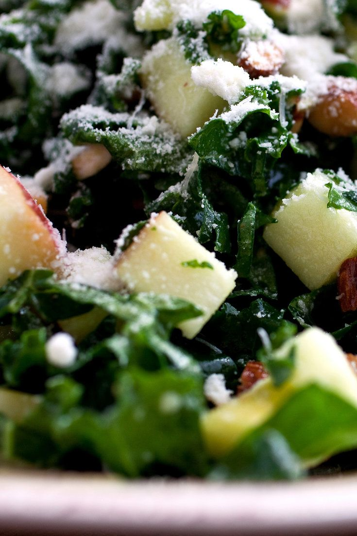 For a kale salad to be successful, use the most tender kale you can find and cut it into very thin filaments or chop it very finely (or both).  (Photo: Andrew Scrivani for NYT)