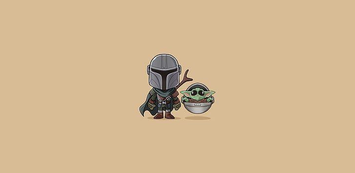HD wallpaper Baby Yoda, Star Wars, minimalism