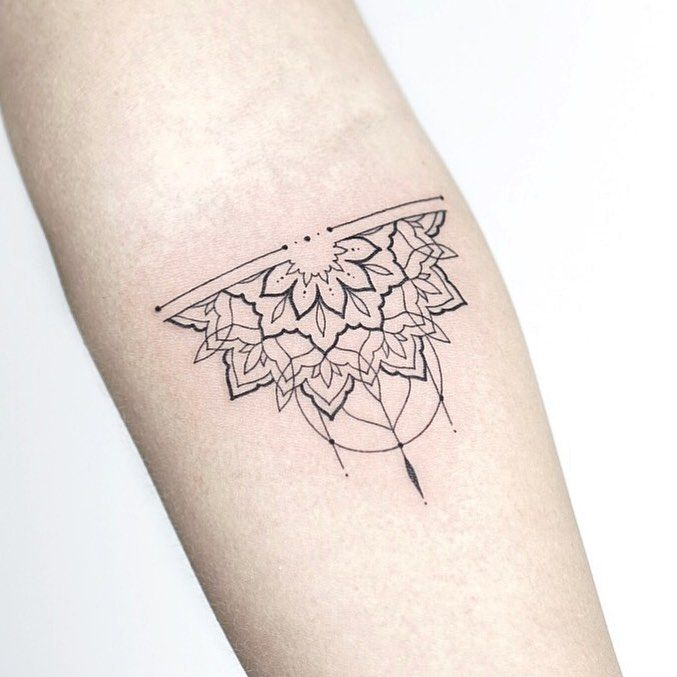 alf mandala for Carolin 🖤 Made at my studio @lagrainetattoo 🌿 ———— . . . . #rachainsworth #lagrainetattoo #tattoo #armtattoo