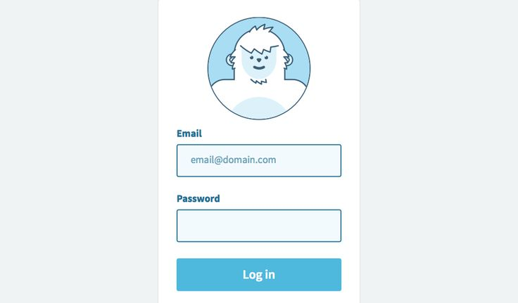 Created a login form with an SVG avatar that responds to the input in the email field. Used the GSAP TweenMax library + GSAP's MorphSVG plugin for the ...