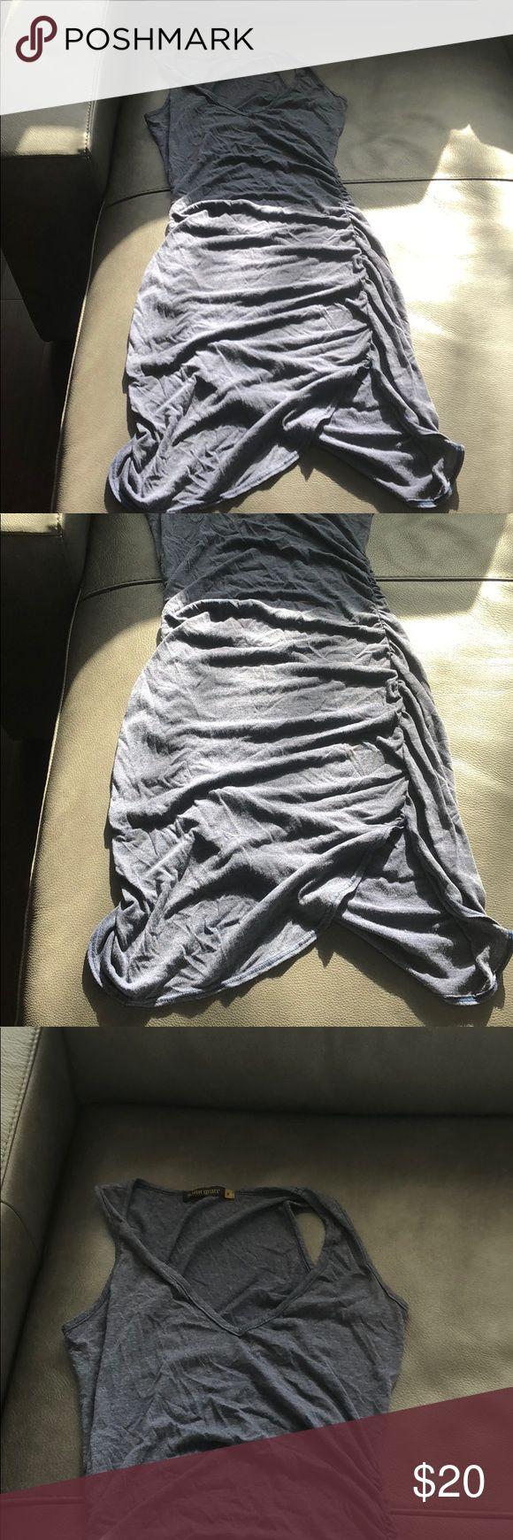 Saint Grace jersey dress Blue gray light weight jersey dress. Slight pulling on back. Saint Grace Dresses
