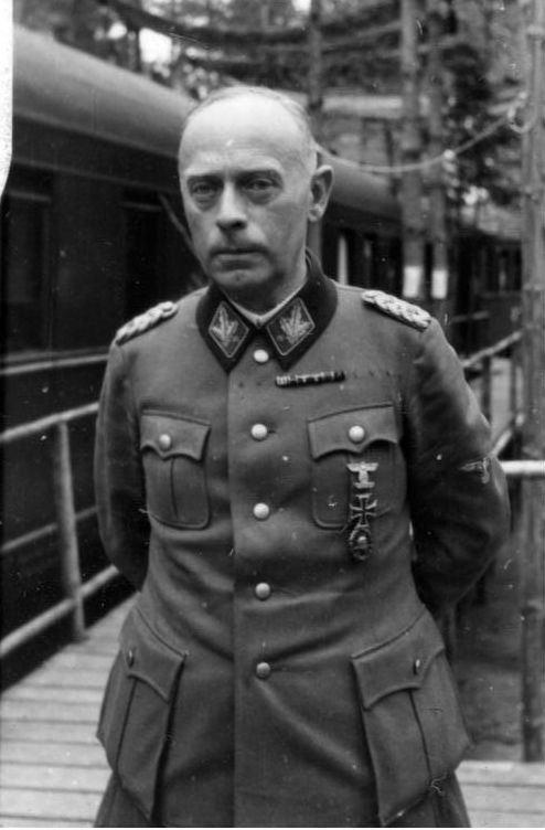 Karl Pfeffer-Wildenbruch was Reich Inspector General of Police Schools, SS-Obergruppenführer and General of the Waffen SS , and General of the police. He served as police chief in the occupied eastern territories until 1943 and was then given command of VI SS Volunteer Corps. As commanding general in Budapest, he led the Germans in the 102-day bloodiest battle to hold the city. After the war, he was a POW in the USSR and was released in 1955. He died in 1971 in Bielefeld, West Germany.