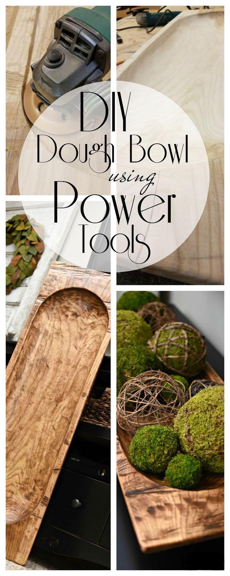 Make your own DIY Dough Bowl using power tools that looks like an antique| awonderfulthought.com