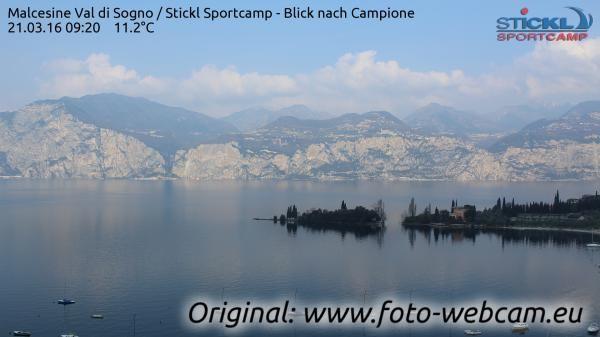 Beautiful panoramic view of Malcesine Val di Sogno! Webacam.