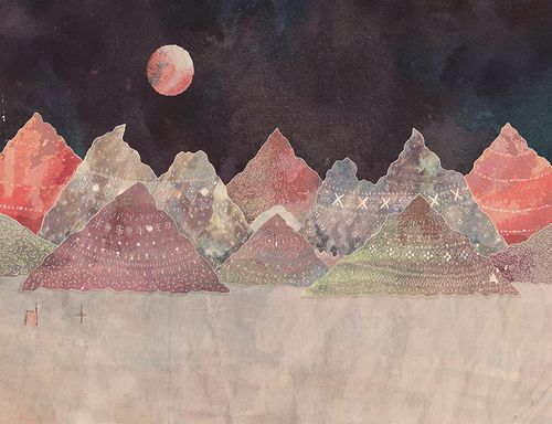 mountains.Inspiration, Jamie Johnson, Illustration, Art, Colors Combinations, Collage, Mountain Home, Digital Prints, Design