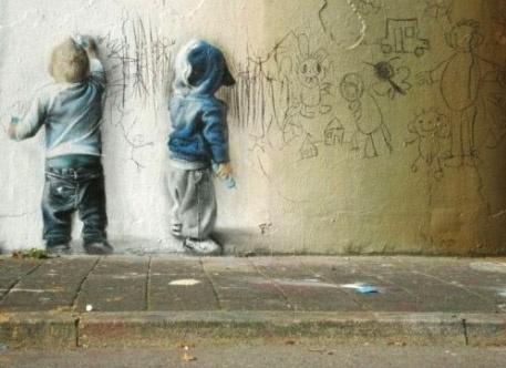 Art de rue et autres trompe-l'oeil...
