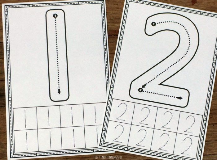 1-10 Number Formation Cards