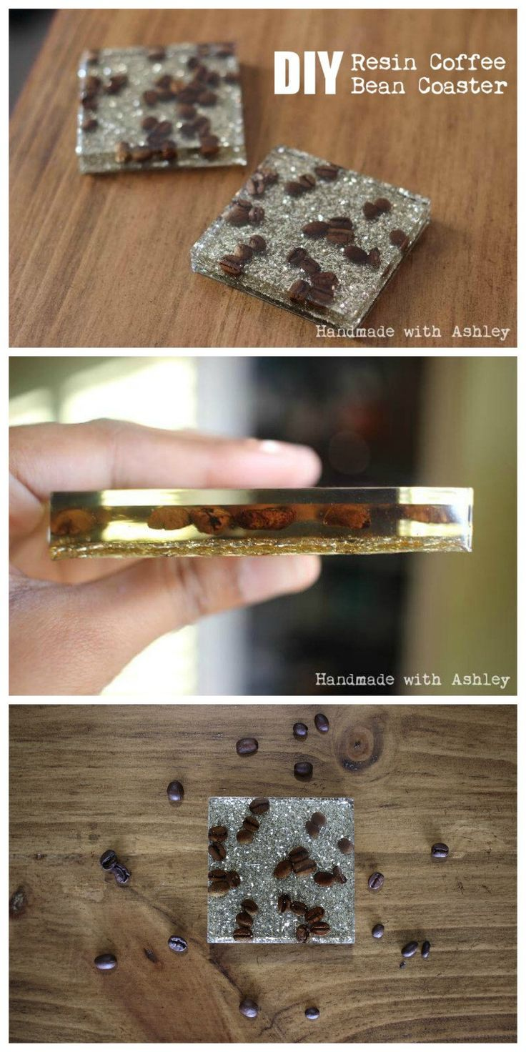 Resin for arts and crafts - Diy Resin Coffee Bean Coaster