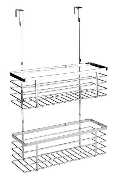 Portapaños extensible para colgar en la puerta. Acabado cromado. Medidas 46,8 x 12,5 x 30 cm (ancho x alto x fondo). Incorpora fijaciones.