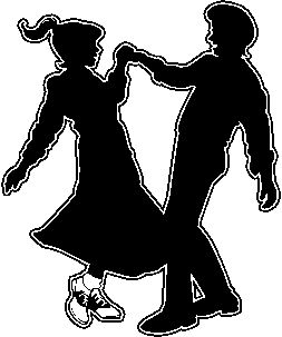 Silhouettes Dance Dancing Retro Couples Couples Sock Hop Silhouette ...