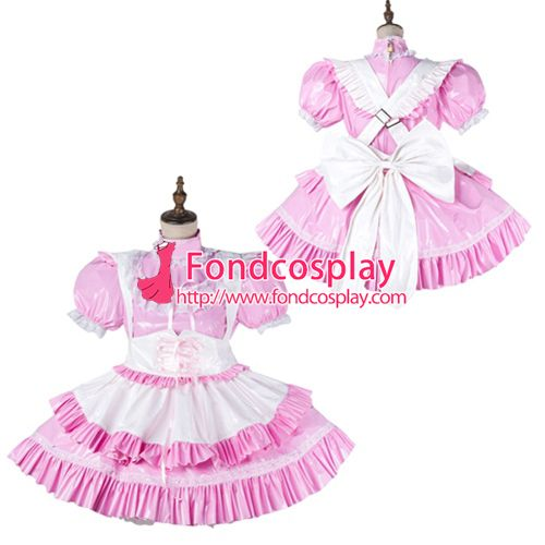 Sissy maid pvc dress lockable Uniform cosplay costume Tailor-made[G2149]