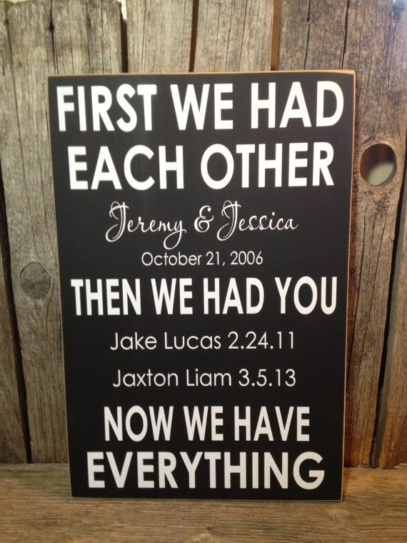 First+we+had+each+other+personalized+family+by+stickwithmevinyl,+$25.00