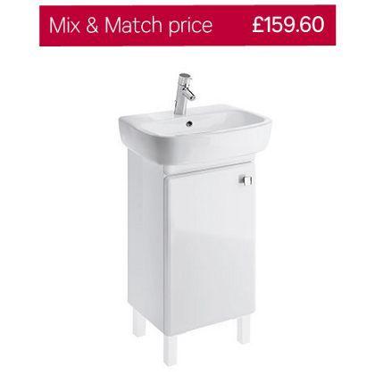 Facile Bathroom Cabinet For Basin Universal 55cm White