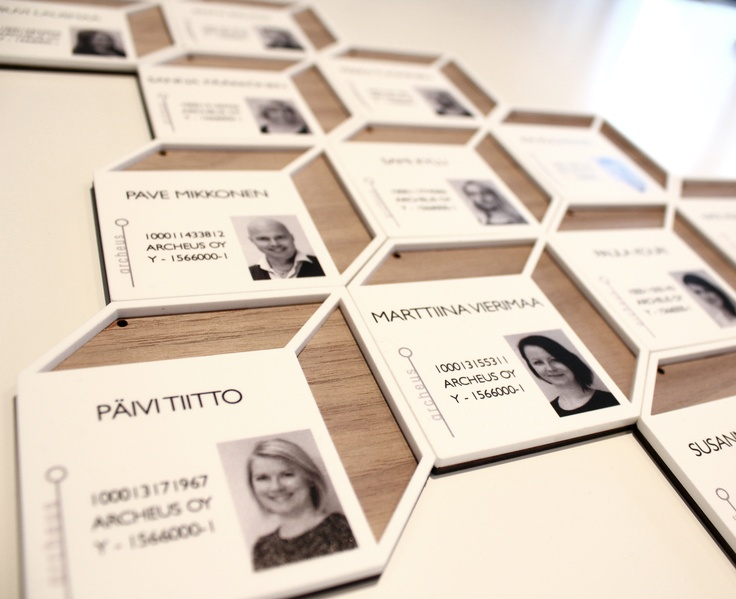 Identity cards for Archeus architects