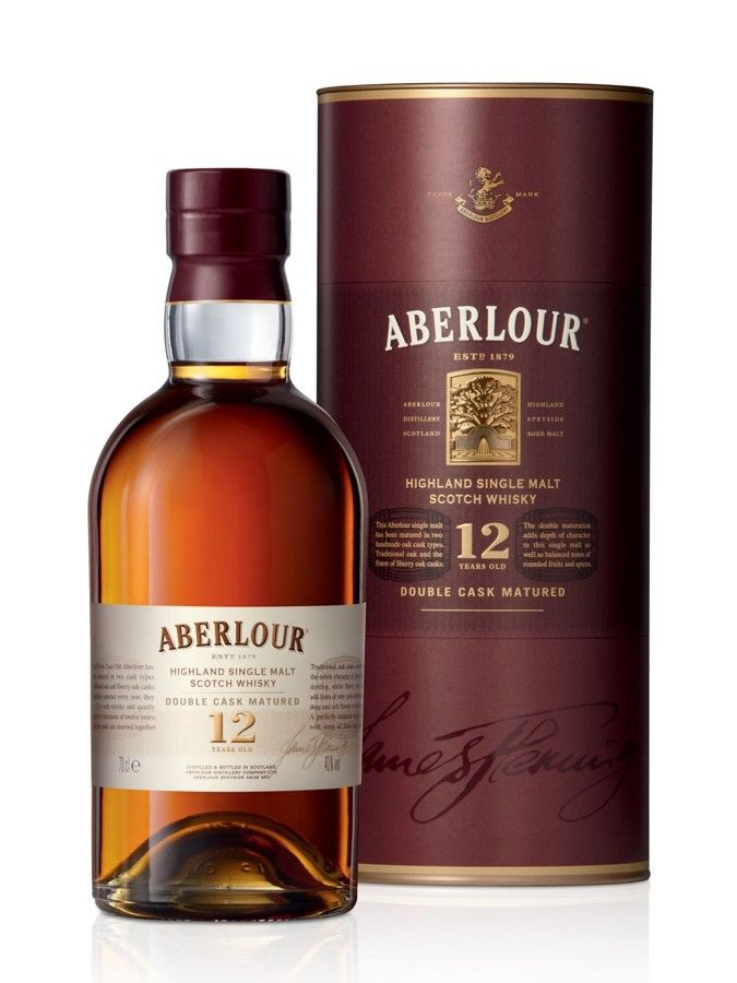 Whisky ABERLOUR 12 ans Double Cask Matured 40% - Carrefour 44 € - Médaille d'Argent, Outstanding, International Wine & Spirit Competition 2013 Médaille d'Argent, San Francisco World Spirits Competition 2011