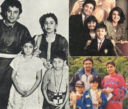 Ranbir Kapoor's childhood pics with his family
