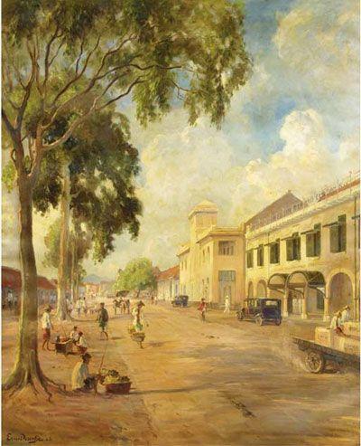 Ernest Dezentjé - Herinnering aan de Kali Besar, Batavia.