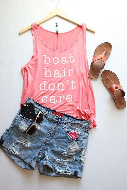 Boat Hair Don't Care in Coral