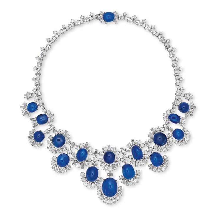 AN IMPORTANT SAPPHIRE AND DIAMOND NECKLACE, BY BUL…