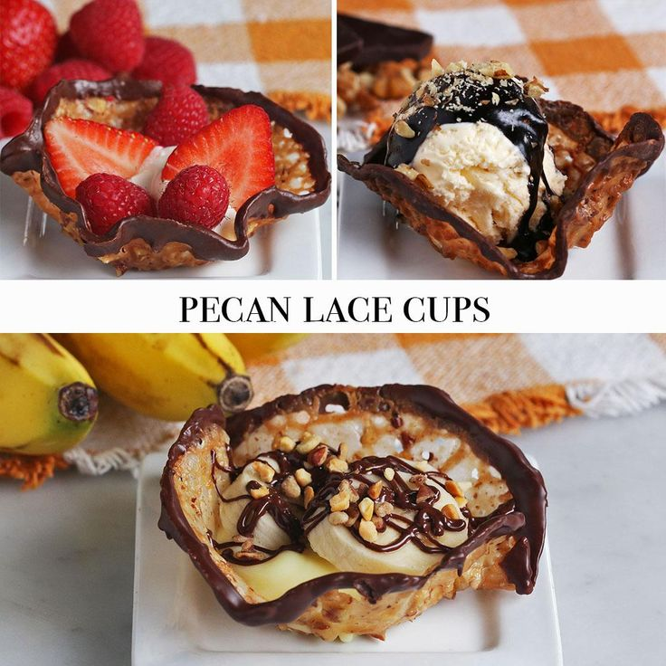 Pecan Lace Cups 3 Ways by Tasty