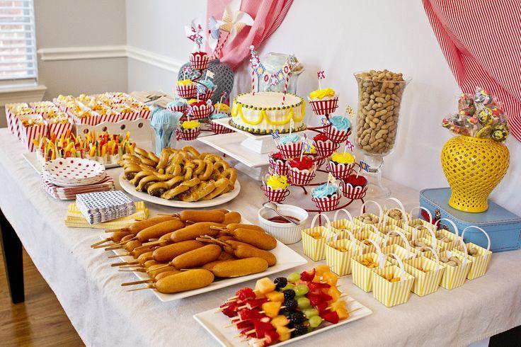 Food Ideas Carnival Birthday Pinterest